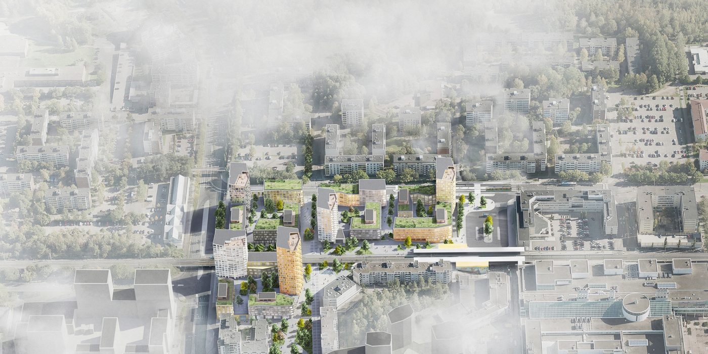 Myyrmäki Centre Area 1.st Prize Design Started