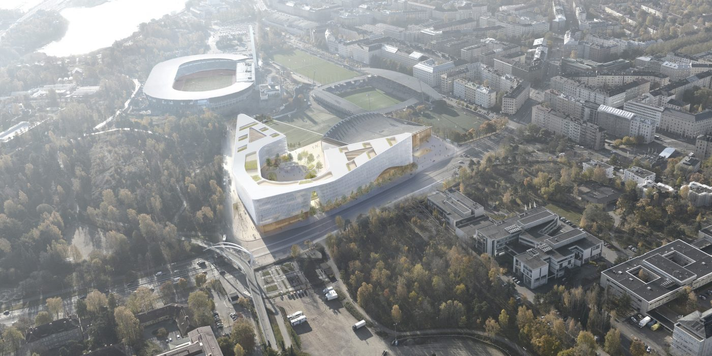 Helsinki Garden Arena 1.st Prize Design in Process