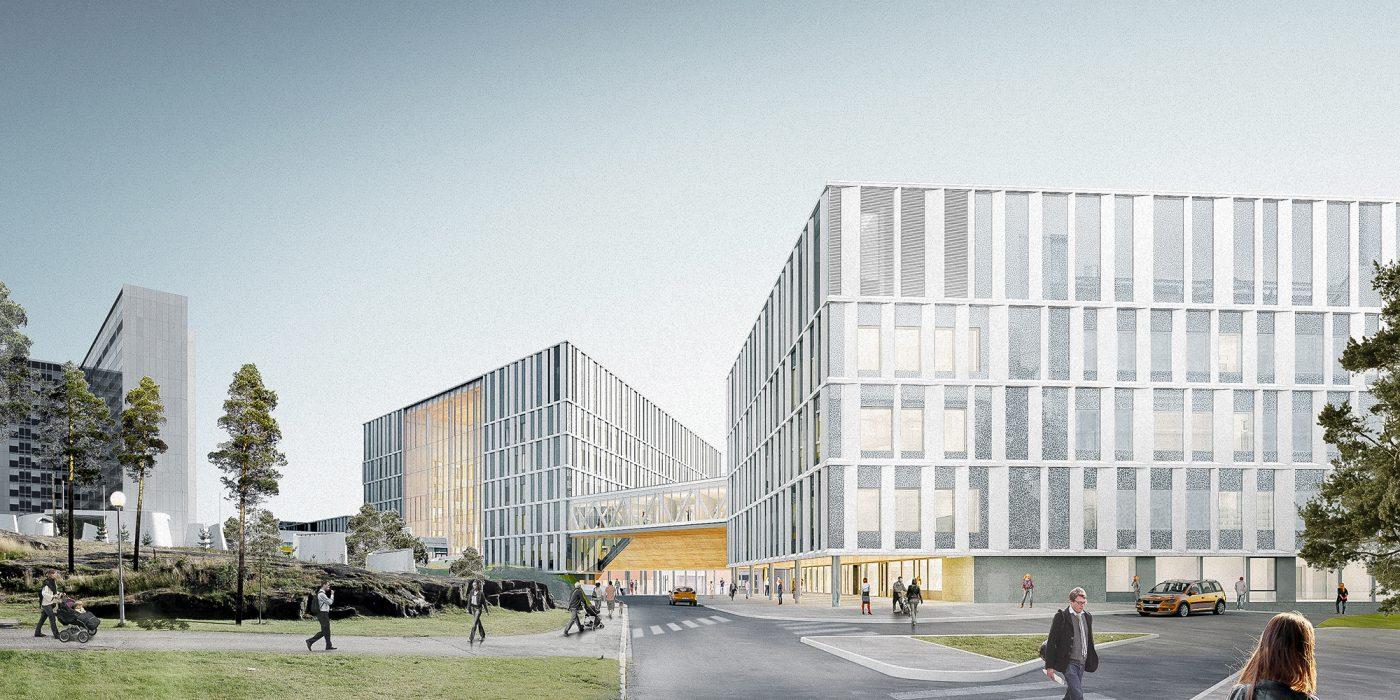 Siltasairaala Hospital 1.st Prize, Under Construction
