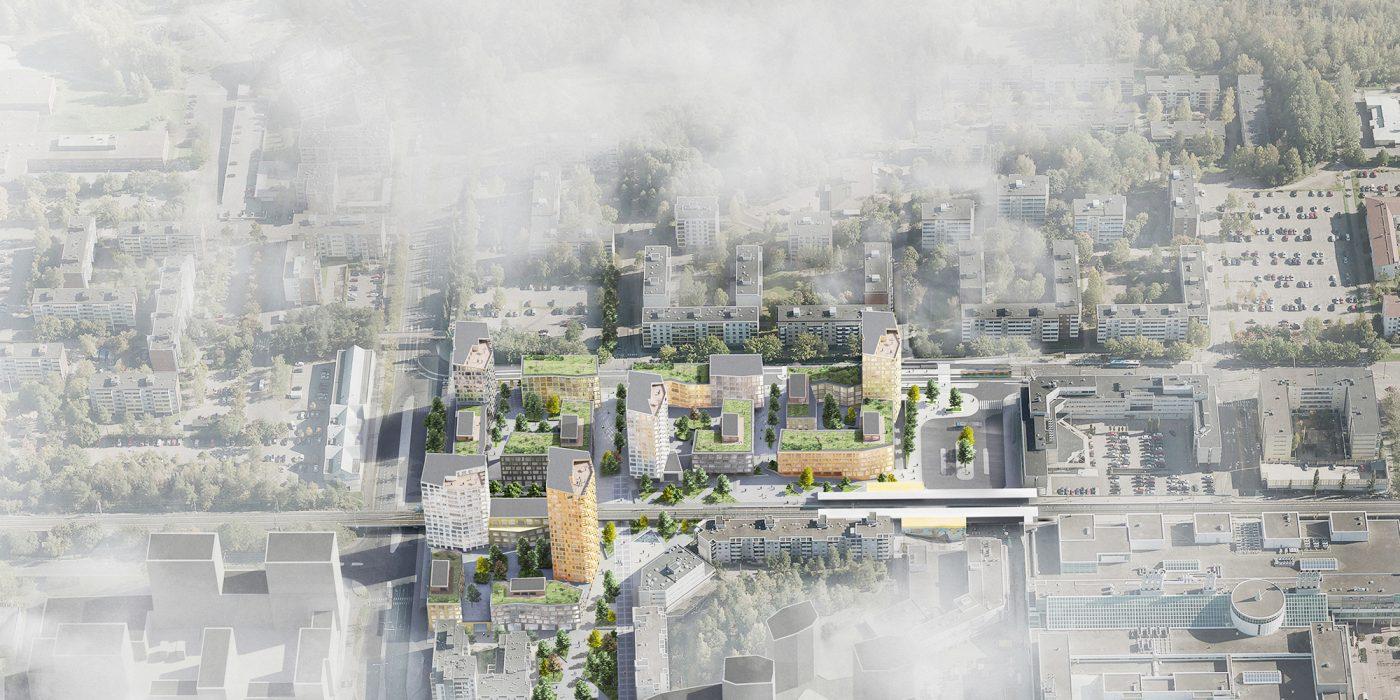 Myyrmäki Centre Area 1.st Prize Design in Process