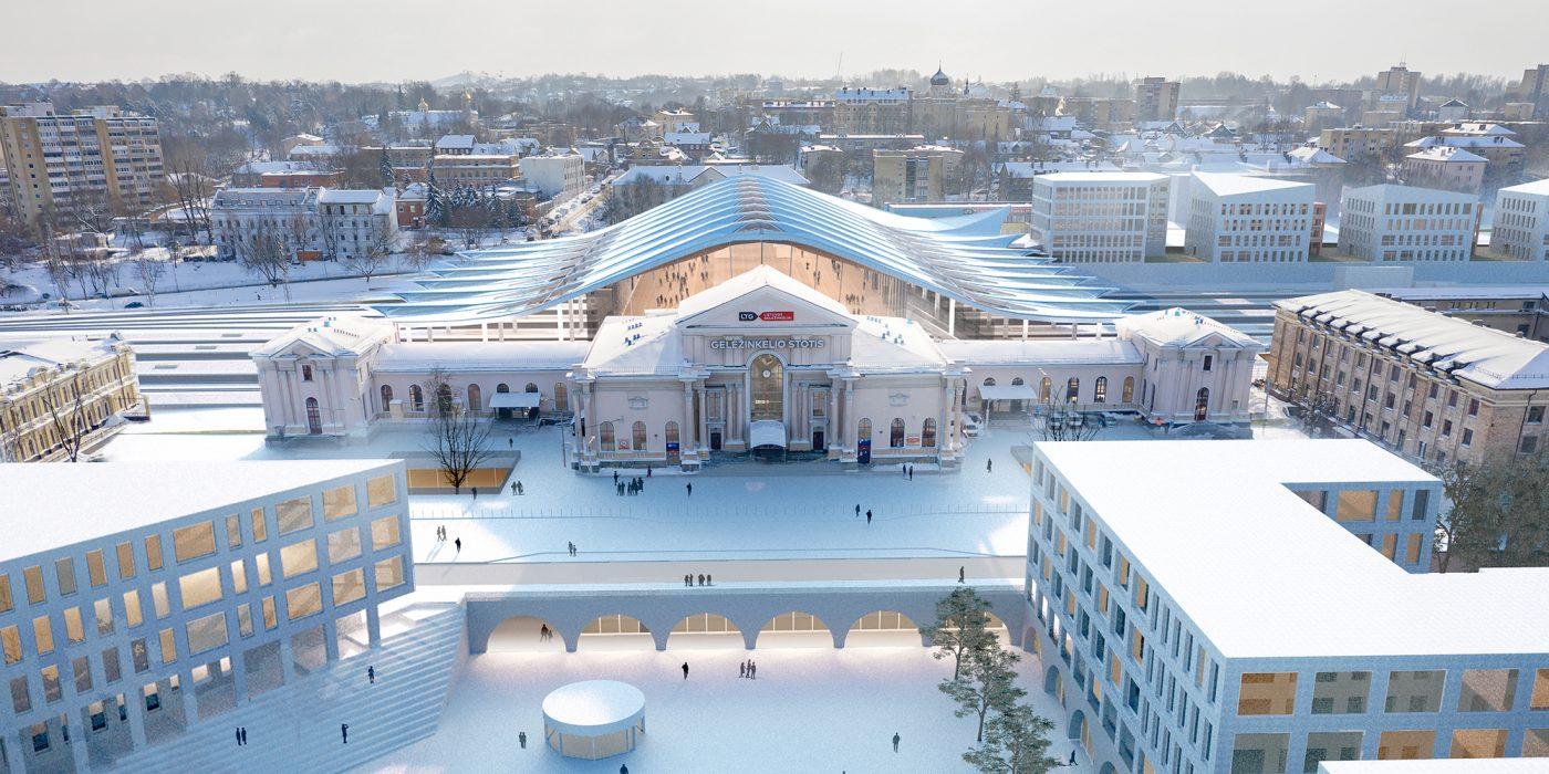 Vilnius Railway Station Complex Competition Prize
